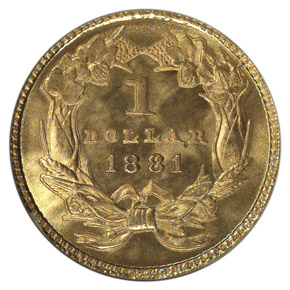 1881 G$1 MS reverse