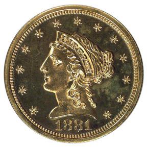 1881 $2.5 PF obverse
