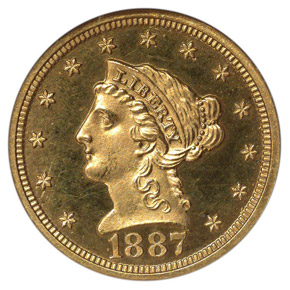 1887 $2.5 PF obverse