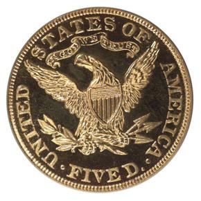 1901 $5 PF reverse