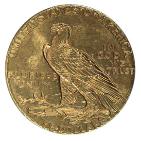1929 $5 MS reverse
