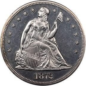 1872 S$1 PF obverse