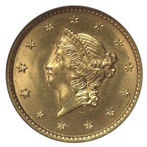1849 G$1 MS obverse
