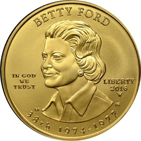 2016 W BETTY FORD G$10 MS obverse