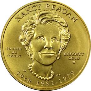 2016 W NANCY REAGAN G$10 MS obverse
