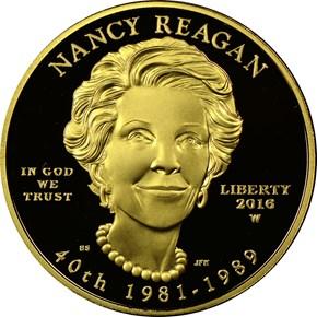 2016 W NANCY REAGAN G$10 PF obverse