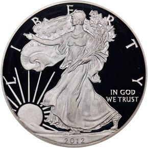 2012 S EAGLE S$1 PF obverse