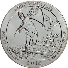 2016 5oz SILVER FORT MOULTRIE 25C MS reverse