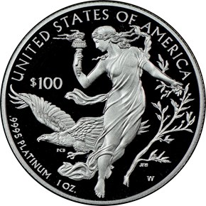 2016 W EAGLE P$100 PF reverse