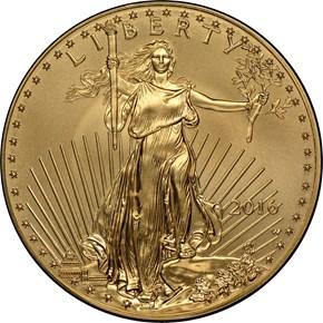 2016 W EAGLE BURNISHED GOLD EAGLE G$50 MS obverse