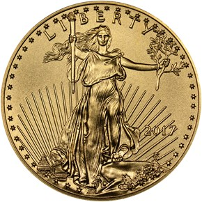 2017 EAGLE G$25 MS obverse