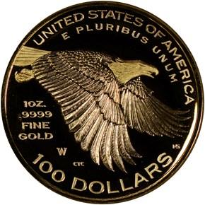 1792-2017 W HIGH RELIEF - .9999 FINE G$100 PF reverse