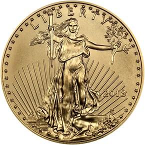 2018 Eagle G$25 MS obverse