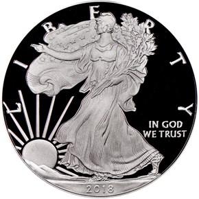 2018 W Eagle S$1 PF obverse