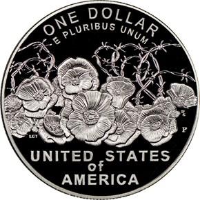2018 P World War I Centennial S$1 PF reverse