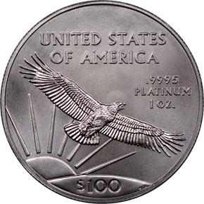 2018 Eagle P$100 MS reverse
