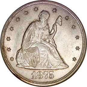 1875 CC 20C MS obverse