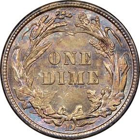 1908 D 10C MS reverse