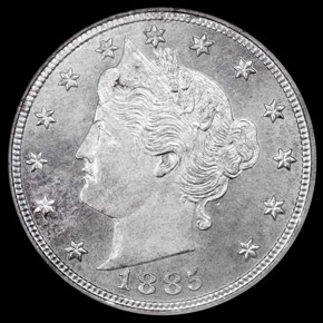 1885 5C MS obverse
