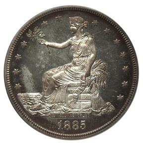 1885 T$1 PF obverse
