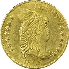 1806 KNOBBED 6 BD-6 $5 MS obverse