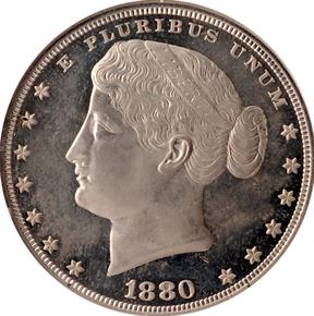 1880 J-1650 S$1 PF obverse