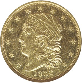 1832 BD-1 $2.5 MS obverse