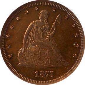 1875 J-1408 20C PF obverse