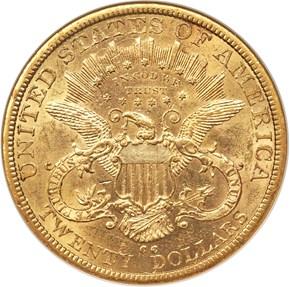 1878 CC $20 MS reverse