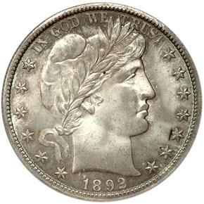 1892 O MICRO O 50C MS obverse