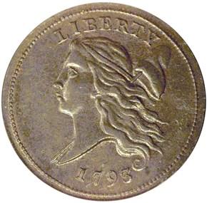 1793 1/2C MS obverse