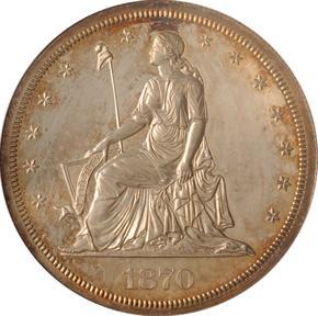 1870 J-996 S$1 PF obverse