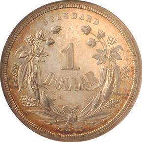 1870 J-996 S$1 PF reverse