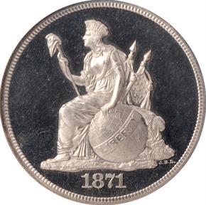 1871 J-1131 S$1 PF obverse