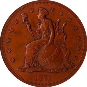 1871 J-1157 T$1 PF obverse