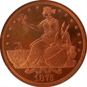 1875 J-1421 T$1 PF obverse