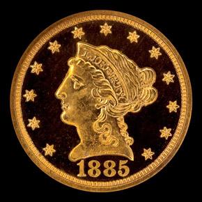 1885 $2.5 PF obverse