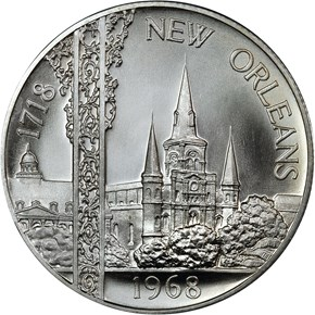 1968 SILVER NEW ORLEANS 250th ANNIV. SC50C MS obverse