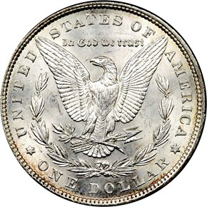 1897 S$1 MS reverse