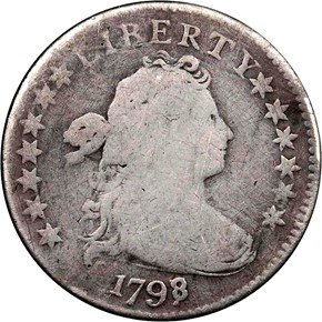 1798/7 13 STARS REV JR-2 10C MS obverse
