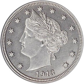 1913 LIBERTY 5C PF obverse