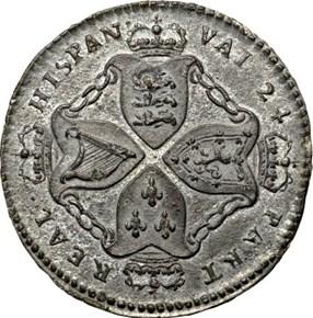 c.1688 AMERICAN PLANTATIONS 1/24R MS reverse