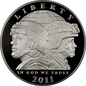 2011 P UNITED STATES ARMY S$1 PF obverse
