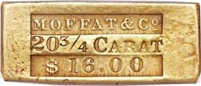 (1849) INGOT MOFFAT & CO. $16.00 MS obverse
