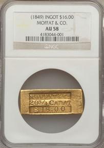 (1849) INGOT MOFFAT & CO. $16.00 MS reverse