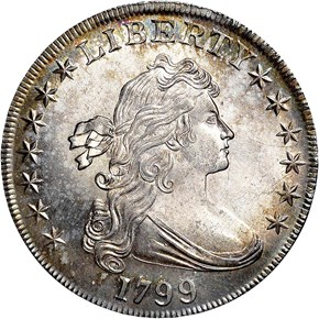1799 S$1 MS obverse