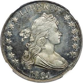 1801 BB-301,B-5 $1 PF obverse
