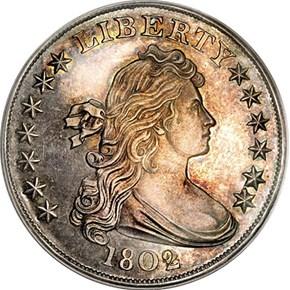 1802 BB-302,B-8 $1 PF obverse