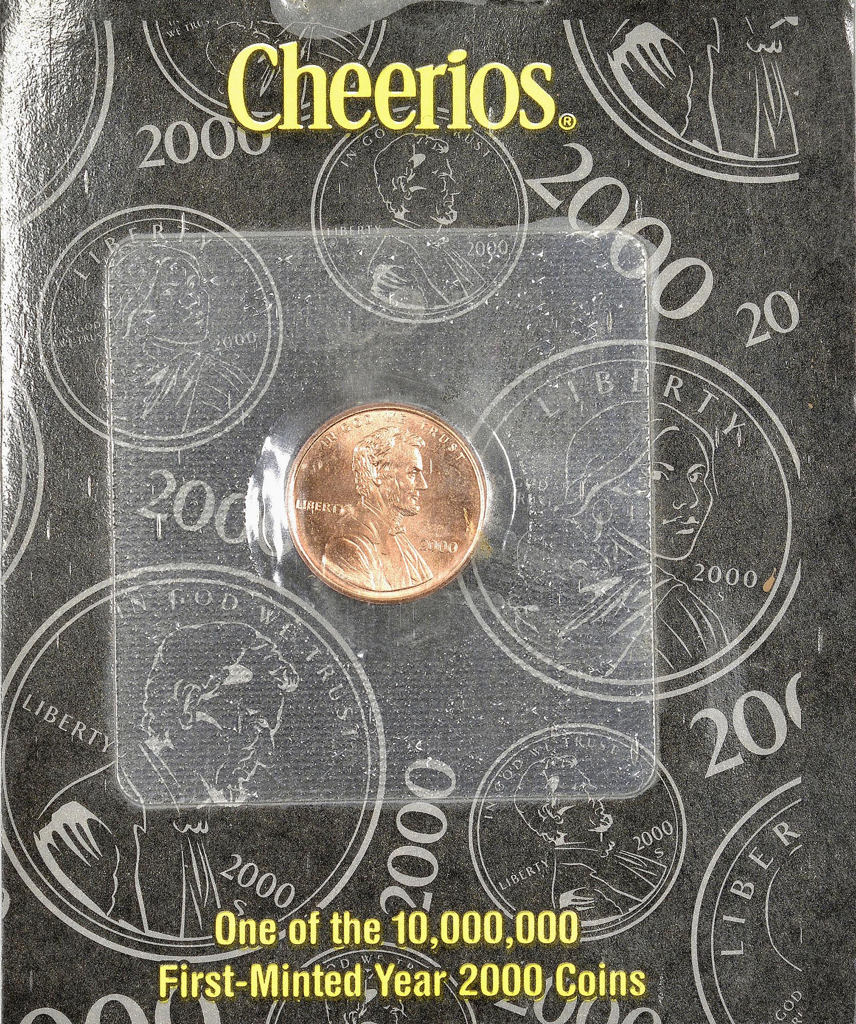 2000 Cheerios Promotion 1C MS Lincoln Cents, Memorial