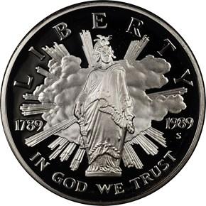 1989 S CONGRESS S$1 PF obverse